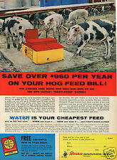 1964 Ritchie Manufacturing Co Hog Waterer Farm Print Ad