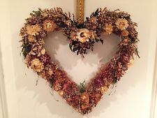 Dried Flower Heart Shaped Wreath