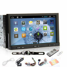 "7"" HD Android 4.4 CAR PC GPS Navigation 2Din DVD Stereo Player 3G Wifi Radio+CAM"