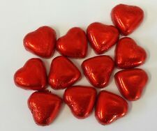 RED FOIL CHOCOLATE HEARTS x1KG (Appx 140) CARAMEL CREME FLAVOUR FILLING WEDDINGS