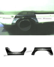 Pop Rear Bumper Exhaust Heat Shield For Mitsubishi EVO 5 6 CP9A Carbon Fiber