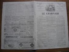 1 fevrier 1865 LE CHARIVARI lithographie DAUMIER chemin de fer voila le train