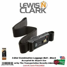 Lewis N. Clark Travel Sentry 3-Dial Combination Luggage Belt, Black #TSA228BLK