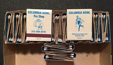 Lot Of 30 Vintage 1960's UNUSED Columbia Bowl Bowling Alley Matchbooks Pro Shop