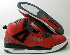 "NIKE AIR JORDAN SPIZIKE GYM RED-BLACK-GREY-WHT ""TORO BRAVO"" SZ 12.5 [315371"