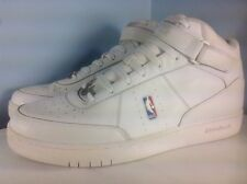 MENS WHITE ON WHITE LEATHER/SYNTHETIC REEBOK NBA DOWNTIME MID TOP SIZE 19 US