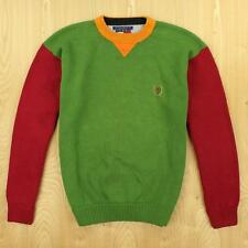 vtg 90's TOMMY HILFIGER sweater MEDIUM colorblock swag hip hop fresh prince