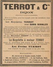 Y8143 Bicyclette à moteur TERROT - Pubblicità d'epoca - 1906 Old advertising