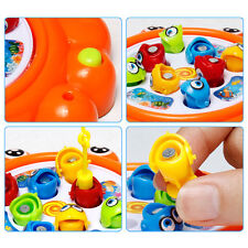 Magnetic Electric Rotating Fishing Game Toy Kids Child Fish Rod Pond Funny Toys