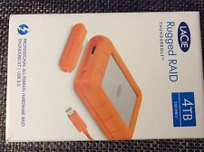 New sealed LaCie Rugged RAID 4TB Thunderbolt - USB 3.0 Portable Hard Drive