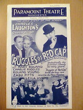 Rare Cinema Programme 1935  Paramount Theatre Manchester: Ruggles of Red Gap