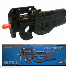 WELL D90F P90 STYLE ELECTRIC AIRSOFT GUN FULLY AUTOMATIC AEG RIFLE-495rd MAG