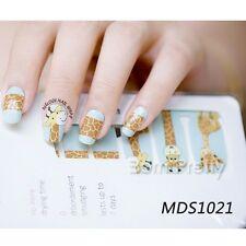 14pcs/ Sheet Deer Nail Wraps Crack Nail Art Full Stickers MDS1021