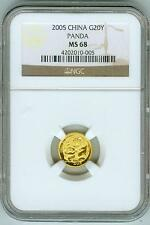 2005 China Gold 20Y Panda NGC MS68