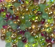 "Miyuki Magatama Tear Drop Glass Beads 4mm "" MIX EARTH TONE "" 25 Grams"