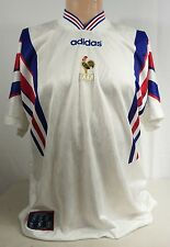 Vintage 90s FRANCE FOOTBALL JERSEY 1996/1997 ADIDAS XL FFF Away Kit 44/46 French