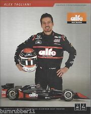 "2016 ALEX TAGLIANI ""ALFE HEAT AJ FOYT RACING INDY ONLY"" #35 INDY CAR POSTCARD"