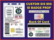 JAMES BOND 007 ID Badge/ Card (SIS MI6)   CUSTOMIZABLE   - US MILITARY CAC STYLE