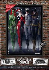 Gotham Girls clásico juego de impresión de 5-Hiedra Venenosa, Harley Quinn, Catwoman, Batichica