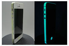 iPhone 5 * Green BLUE *  Glow in the Dark for i5 Edge Wrap Decal Skin Sticker