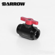 "Barrow G1/4"" Matte Black Mini Valve with Aluminium Red Handle"