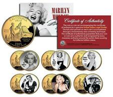 MARILYN MONROE MOVIES Colorized CA Quarters 6-Coin Set LICENSED *All About Eve*