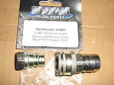 "MEYER SNOW PLOW 1/4"" MALE & FEMALE QUICK COUPLER MEYER # 15072 STOCK # 1304025"