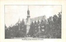 ACADEMY OF THE VISITATION ST. LOUIS MISSOURI RELIGION CHURCH POSTCARD (c. 1910)