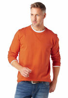 Grey Connection Herren Sweatshirt Pullover Shirt Pulli Langarm orange 670148