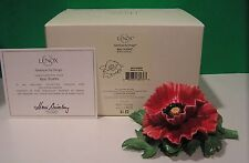 LENOX RED POPPY Garden Flower Figurine NEW in BOX with COA