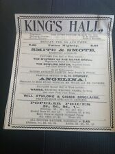 D5-1 ephemera 1914 Advert Dover King's Hall Picture Palace Smite & Smote