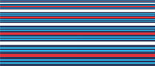 "Car Motorbike Stripes Exterior Vinyl Decal Martini Racing Style Tape 3.5"" 89mm"