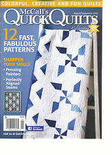 MC CALL'S QUICK QUILTS,   AUGUST / SEPTEMBER, 2016  ( 12 FAST FABULOUS PATTERNS