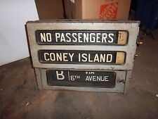 IND NYC SUBWAY CONEY ISLAND BROOKLYN R1/9 SIDE SIGN BOX RARE TRANSIT HISTORICAL
