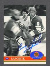 Guy Lapointe signed 1972 Canada Cup hockey card