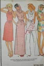 Vintage 1970s McCall's 5560 Hooded Knit Pullover Dress Pants Pattern 32-34B sz S