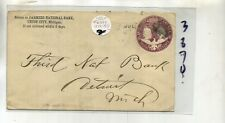 UNION CITY MICHIGAN 1893 FARMERS NATIONAL BANK STAMP COVER