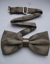 TOP QUALITY DICKIE BOW TIE BEIGE LIGHT BROWN ADJUSTABLE WEDDING BOWTIE SILKY NEW