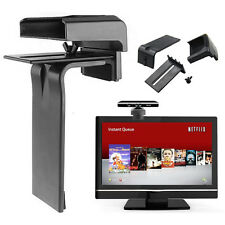 Kinect TV Clip Mount Stand Bracket Holder for Microsoft Xbox 360 Black LCD LED