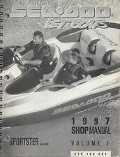 1997 SEA DOO JET BOATS SPORTSTER SHOP MANUAL VOLUME 1  P/N 219 100 051 (953)