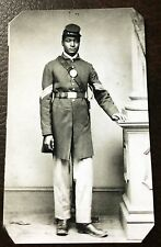 civil war African American Union Soldier tintype #C018RP