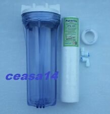 "Pre Filter Housing/CaseTransparent /Standard Size10"" For/RO/UV/Water Purifiers"