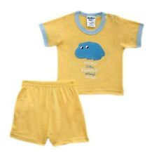 Hippo - Yellow Animal Short Set for Baby/Infant Boy Size 3  months