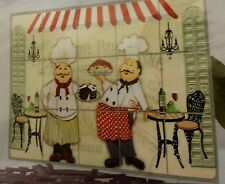 FAT CHEF BACKSPLASH Sticker / Wall Decal 30 x 18, Kitchen Decor, FREE SHIPPING