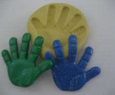 Large hand baby kid child's 32mm Flexible silicone mold chocolate fondant clay