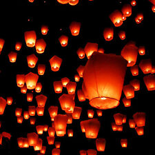 10 ORANGE UFO Sky Fire Eco lanterns 100% Biodegradable chinese sky lanterns