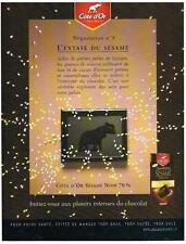 PUBLICITE  2008   COTE D'OR    chocolat l'extase du Sésame