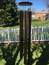 "AMAZING GRACE EXTRA LARGE WIND CHIMES 53"" DEEP ANTIQUE BRONZE WIND CHIME CHURCH"