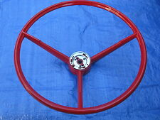 1963 1964 FORD FALCON FAIRLANE MERCURY NEW RED STEERING WHEEL TRUCK THUNDERBOLT