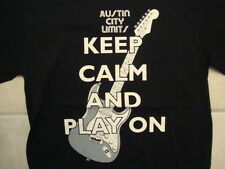 ACL Austin City Limits Music Festival TX Keep Calm And Play On T Shirt Size S